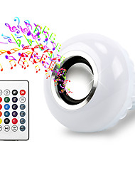 cheap -1pc 12 W 600 lm E26 / E27 LED Smart Bulbs 26 LED Beads SMD 5050 Bluetooth / Remote-Controlled / Audio Speaker RGB 85-265 V / RoHS