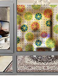 abordables -Ventana de película y pegatinas Decoración Moderno de impresión en 3D CLORURO DE POLIVINILO Adhesivo para Ventana Mate