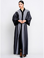 cheap -BENEVOGA Women's Sophisticated Street chic Shift Swing Abaya Dress - Solid Colored Color Block