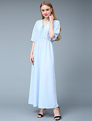 cheap -Women's Sophisticated Street chic Sheath Tunic Swing Dress - Solid Colored