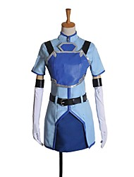 cheap -Inspired by Sword Art Online Cosplay Anime Cosplay Costumes Cosplay Suits Other Short Sleeve Coat / Skirt / Gloves For Unisex Halloween Costumes