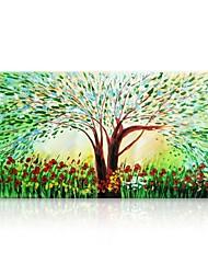 billige -Hang-Painted Oliemaleri Hånd malede - Abstrakt Blomstret / Botanisk Moderne Lærred