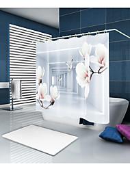 Недорогие -Занавески и крючки На каждый день Modern Полиэстер Новинки механически Водонепроницаемый Ванная комната