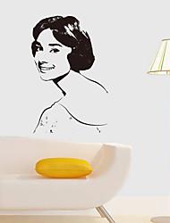 baratos -Decalque Autocolantes de Parede Decorativos - Adesivos de parede de pessoas 3D Reposicionável Removível