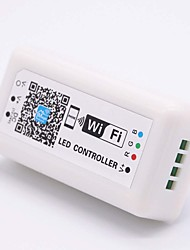 cheap -1pc 8.5cm 12-24V Smart WiFi Remote Controlled Music control IOS Android APP Intelligent Timing Controller Plastic for RGB LED Strip Light