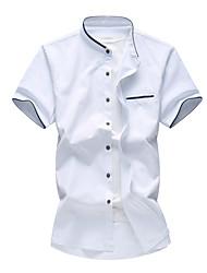 Недорогие -Муж. Большие размеры - Рубашка Хлопок Тонкие Активный Однотонный / С короткими рукавами