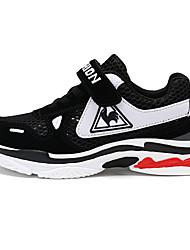 baratos -Para Meninas Para Meninos Sapatos Couro Ecológico Tule Outono Conforto Tênis Corrida Velcro para Atlético Casual Preto Rosa claro Azul