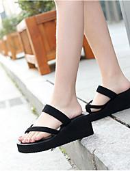 cheap -Women's Shoes EVA Summer Comfort Slippers & Flip-Flops Wedge Heel Black