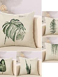 baratos -5 pçs Algodão/Linho Fronha Almofada Inovadora Cobertura de Almofada, Árvores/Folhas Design Especial Folha Vintage Tropical
