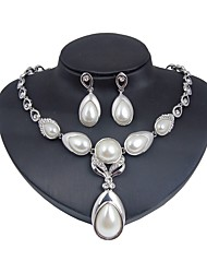 cheap -Women's Jewelry Set - Imitation Pearl, Silver Plated Flower Classic, Fashion Include Bridal Jewelry Sets Silver For Wedding / Daily