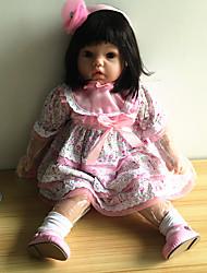 abordables -NPK DOLL Muñecas reborn Bebés Niñas 20 pulgada Silicona / Vinilo - natural, Pestañas aplicadas a mano, Clavos inclinados y sellados Kid de Chica Regalo / CE / Tono de piel natural