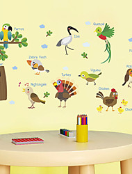 abordables -Calcomanías Decorativas de Pared - Calcomanías de Aviones para Pared Pegatinas de pared de animales Animales Personajes Sala de estar