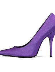 povoljno -Žene Cipele Svila Proljeće Jesen Obične salonke Udobne cipele Cipele na petu Stiletto potpetica za Kauzalni Crn Crvena Pink