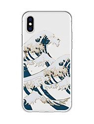 billige -Etui Til Apple iPhone X iPhone 8 Plus Mønster Bagcover Landskab Tegneserie Blødt TPU for iPhone X iPhone 8 Plus iPhone 8 iPhone 7 Plus