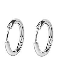 cheap -Men's / Women's Hoop Earrings - European, Fashion Black / Silver For Daily / Street