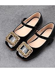 abordables -Fille Chaussures Polyuréthane Printemps Automne Chaussures de Demoiselle d'Honneur Fille Confort Ballerines pour Décontracté Blanc Noir