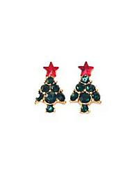 baratos -Brincos Curtos - Doce Verde Escuro Para Natal / Presente