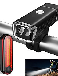 cheap -Front Bike Light / Rear Bike Light / Rechargeable Bike Light Set LED Cycling Waterproof, Portable Li-ion 500 lm Cycling / Bike