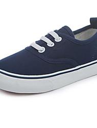 billige -Pige Drenge Sko Kanvas Forår Efterår Komfort Sneakers for Afslappet Hvid Sort Mørkeblå Rød