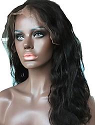 levne -Nezpracované / Přírodní vlasy Se síťovanou přední částí Paruka Brazilské vlasy Vlnitá Střední část / Boční část 130% Hustota S dětskými vlasy / Přírodní vlasová linie / Pro černošky Přírodní Dámské