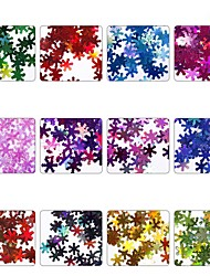 abordables -12pcs Nail Glitter Lentejuelas Glitters Copo Nail Art Design