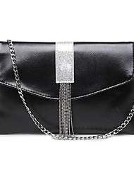cheap -Women's Bags Shoulder Bag Zipper / Tassel for Casual Black