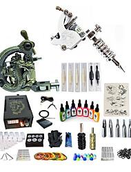 abordables -Machine à tatouer Kit pour débutant 1 x sculpté machine à tatouer pour la doublure et l'ombrage 1 machine de tatouage x alliage pour la