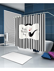 preiswerte -Duschvorhänge & Ringe Moderne Modern Polyester Schottenstoff / Kariert Streifen Maschinell gefertigt Wasserfest