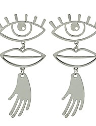 cheap -Drop Earrings - Eyes Fashion Gold / Silver Hamsa Hand For Gift / Date