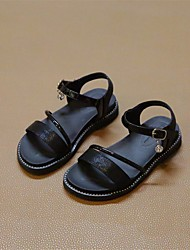 cheap -Girls' Shoes Leatherette Summer Flower Girl Shoes Sandals for Casual Gold Black Silver