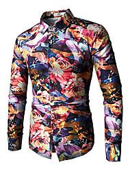 Недорогие -Муж. Рубашка Винтаж Контрастных цветов