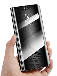 billiga -fodral Till Huawei Mate 10 lite Mate 10 pro Stötsäker med stativ Spegel Auto Sömn/Uppvakning Fodral Enfärgad Hårt PU läder för Mate 10