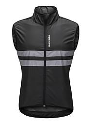 baratos -WOSAWE Sem Manga Colete para Ciclismo - Preto Moto Colete / Camisa / Roupas Para Esporte, Tiras Refletoras