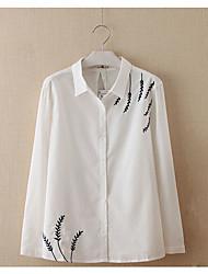Недорогие -Жен. С принтом Рубашка Деловые Классический Однотонный