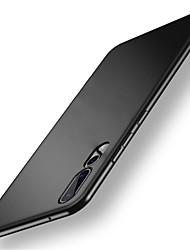 Недорогие -Кейс для Назначение Huawei P20 Pro P20 Защита от удара Матовое Кейс на заднюю панель Однотонный Твердый ПК для Huawei P20 lite Huawei P20