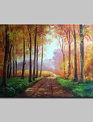 cheap -Oil Painting Hand Painted - Famous Landscape Traditional Canvas