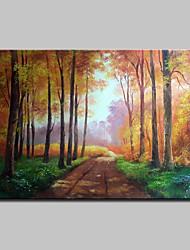 Недорогие -Hang-роспись маслом Ручная роспись - Известные картины Пейзаж Традиционный холст