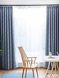 povoljno -Sheer Zavjese Shades Living Room Geometrijski oblici Pamuk / poliester S printom