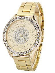cheap -Women's Fashion Watch Quartz Large Dial Alloy Band Analog Casual Fashion Silver / Gold / Rose Gold - Gold Silver Rose Gold One Year Battery Life