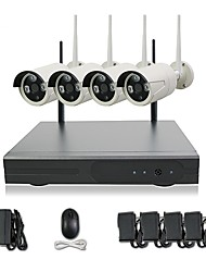 cheap -4CH WIFI 720P HD Camera Night Vision Camera P2P colud 90 PAL/NTSC Transfer Rate 100