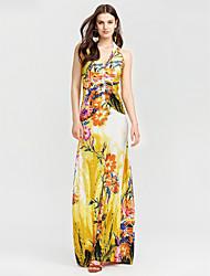 cheap -Women's Beach Sheath Dress - Floral Maxi V Neck