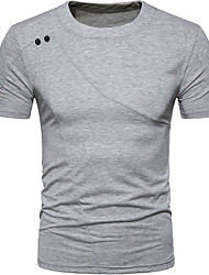 cheap -Men's Basic T-shirt - Solid Colored, Print Round Neck