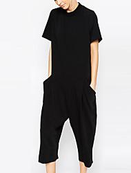 abordables -Femme Travail Sortie Combinaison-pantalon Couleur Pleine Arc-en-ciel Sarouel