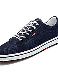 お買い得  -男性用 靴 チュール 春 夏 コンフォートシューズ スニーカー のために カジュアル ブラック グレー ブルー