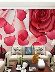 abordables -Mural Toile Revêtement - adhésif requis Fleur Décoration artistique 3D