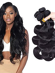 cheap -Peruvian Hair / Body Wave Body Wave Extension / One Pack Solution / Human Hair Extensions 4 Bundles Human Hair Weaves Soft / Extention /