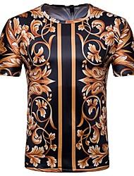baratos -Homens Camiseta Moda de Rua Floral