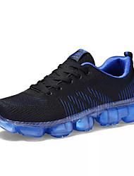 baratos -Homens sapatos Borracha Primavera Verão Conforto Tênis para Ao ar livre Preto Preto / Vermelho Black / azul