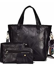 preiswerte -Damen Taschen Bag Set Reißverschluss für Normal Ganzjährig Schwarz