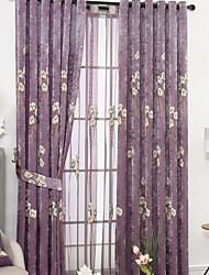preiswerte -Gardinen Shades Schlafzimmer Zeitgenössisch Baumwolle / Polyester Stickerei